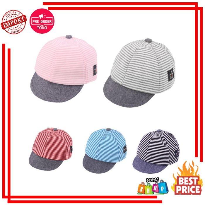 Unisex Anak Topi untuk Anak Lakilaki dan Perempuan Kapas Garis