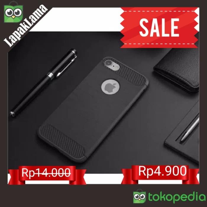iPhone 7+ 7 Plus Case Viseaon TPU Softcase Back Carbon Fiber iPhone - Hitam