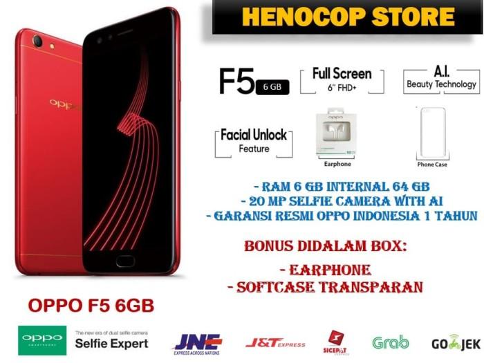 Jual OPPO F5 PRO BARU RAM 6 GB INTERNAL 64 GB GARANSI RESMI - BLACK ... 483a1f19554fb