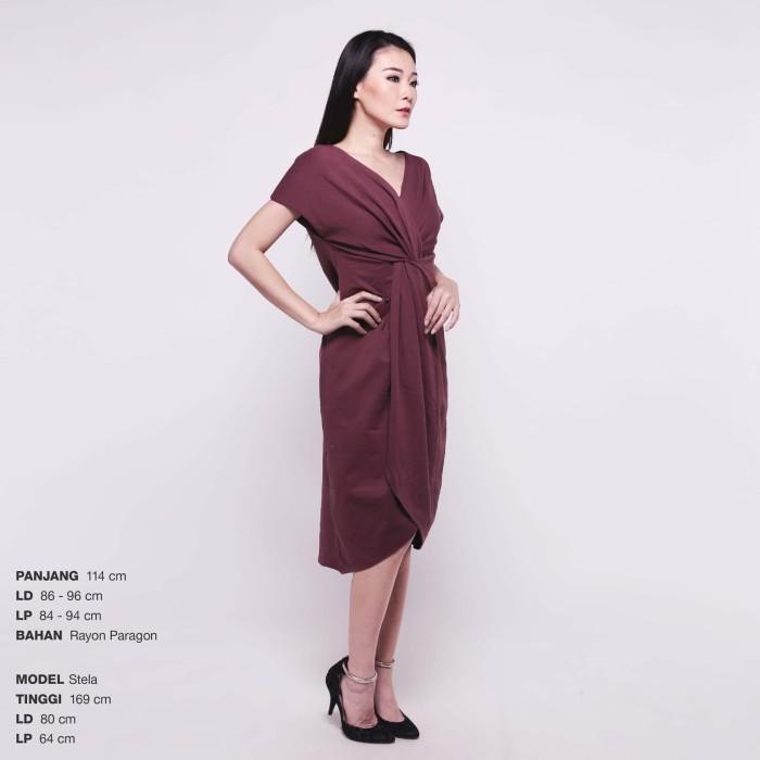 Jual Squishy Dress Gaun Pesta Panjang Wanita Midi Dress Off Shoulder