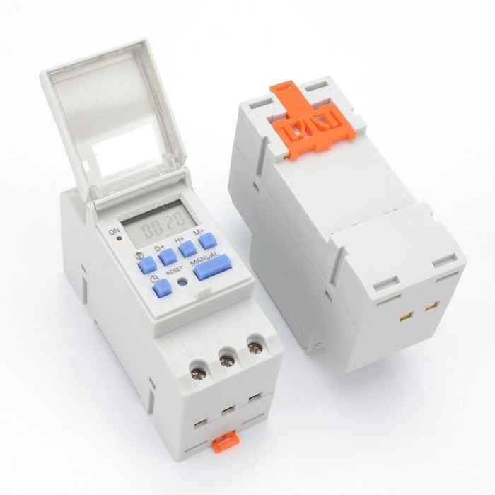 Power Timer Programmable Time Switch Relay 16A 220V 2000W - Putih