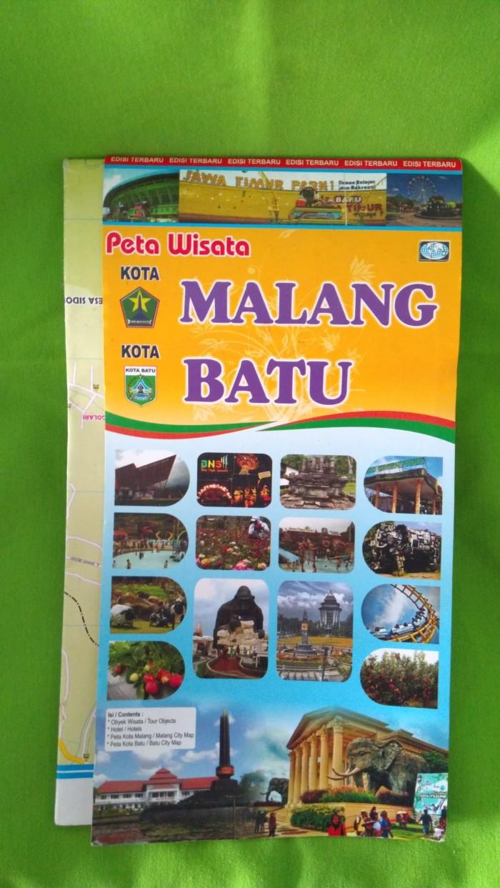 Jual Peta Wisata Kota Batu Kota Malang Kota Tangerang Selatan Stikerin Tokopedia