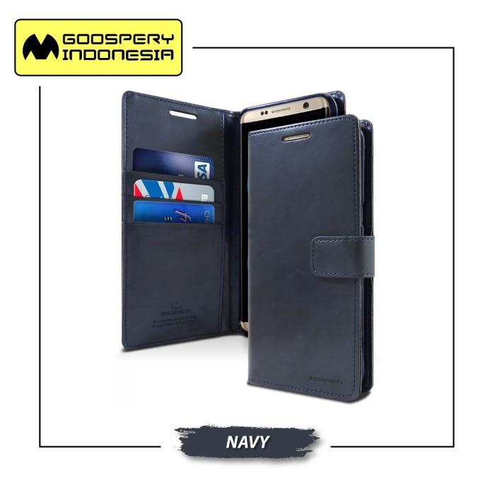 Goospery iphone 8 plus blue moon diary case - navy