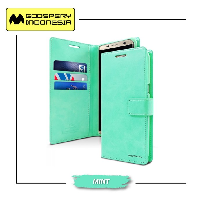 Goospery iphone 7 blue moon diary case - mint