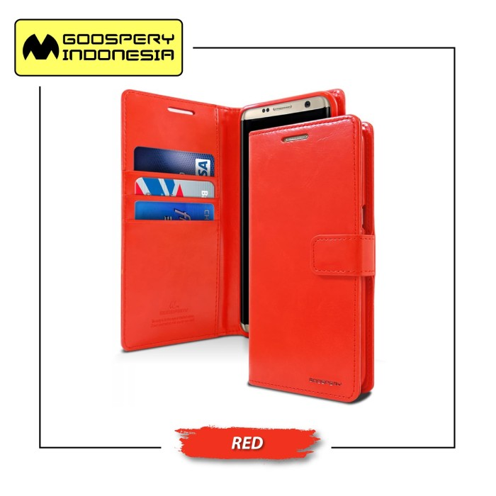 Goospery iphone 8 plus blue moon diary case - red