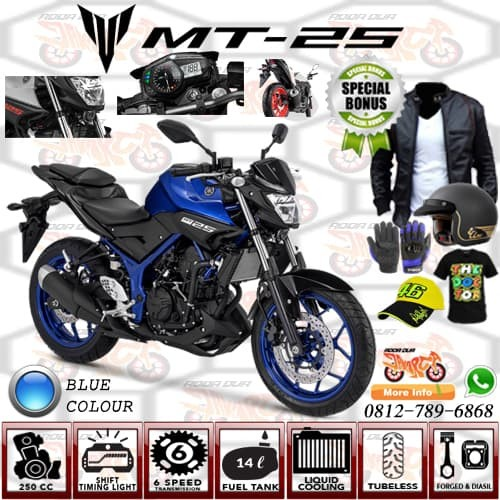 harga Yamaha mt-25 (blue metalic) jakarta-tangerang-serang Tokopedia.com