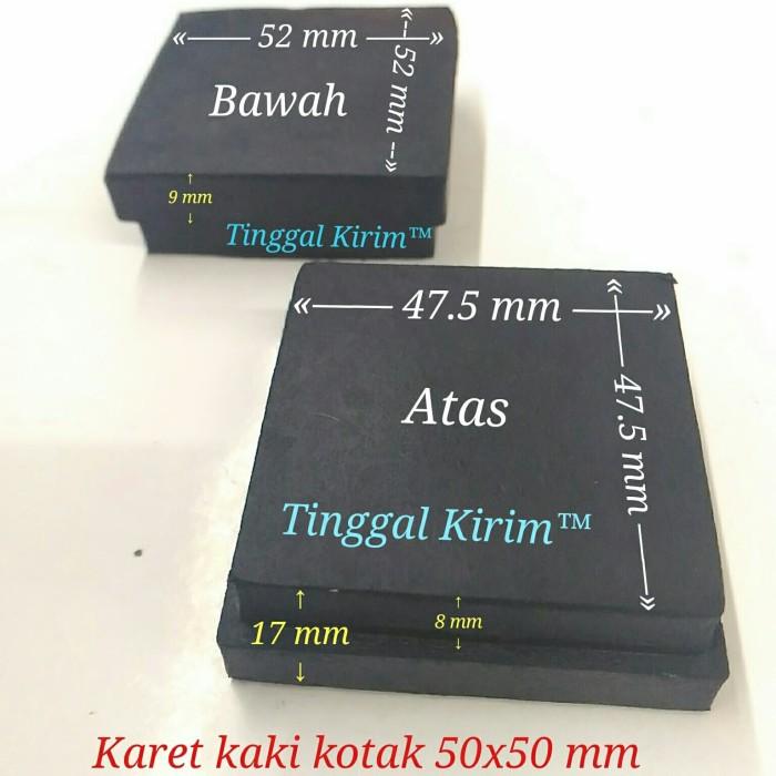 Foto Produk Karet kaki kotak 5x5 cm / karet kotak hollow 50x50 mm dari Tinggal Kirim
