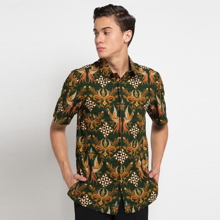 Jual Baju Batik Pria Lengan Pendek Terbaru Hijau S Kota Tangerang Selatan Batik Trusmi Tokopedia