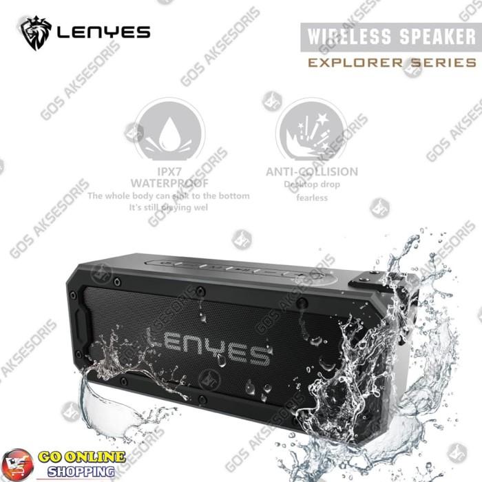 Foto Produk Speaker Bluetooth Portable Waterproof Tahan Banting LENYES S108 TWS dari GOS Aksesoris HP