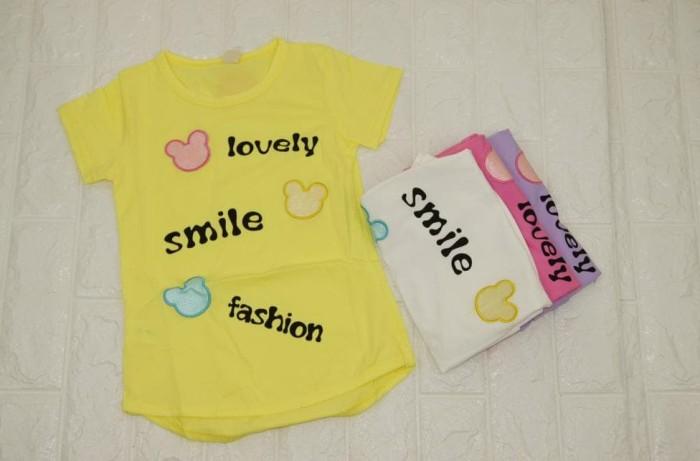 Foto Produk Pakaian Baju Anak Perempuan Kaos Lengan Pendek Import Murah B-022 dari Franziska