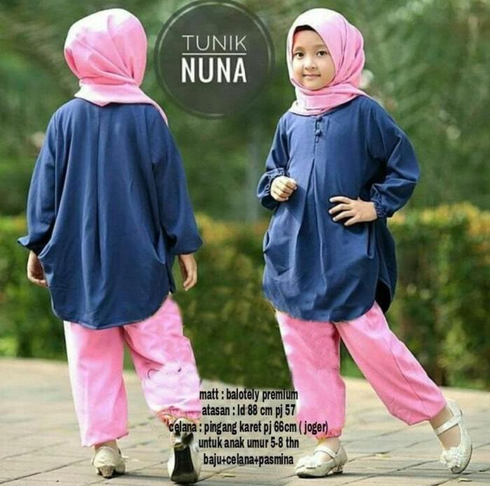 Foto Produk Setelan Muslim Anak Tunik Nuna 3 In 1 Fashion Anak Baju Muslim Anak dari Franziska