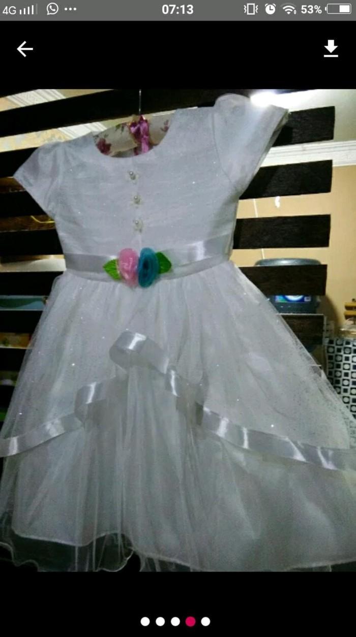 Foto Produk Dress Pesta Anak Putih Merah Pink dari Franziska