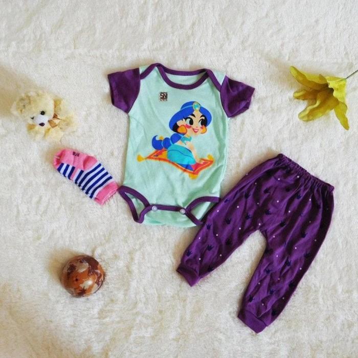 Foto Produk Baju Anak Bayi Perempuan Set Jumper Plus Kaos Kaki Motif Disney dari Franziska