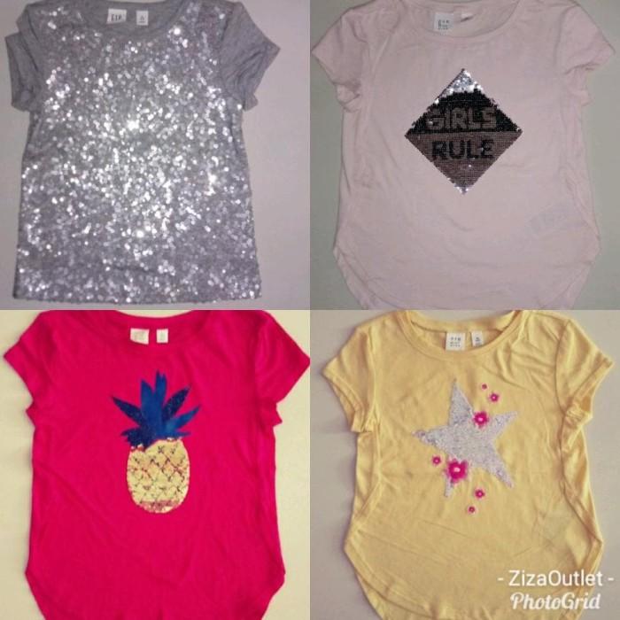 Foto Produk Pakaian Anak Perempuan Kaos Gapkids Kaos Sequin Kaos Anak Cewek Payet dari Franziska