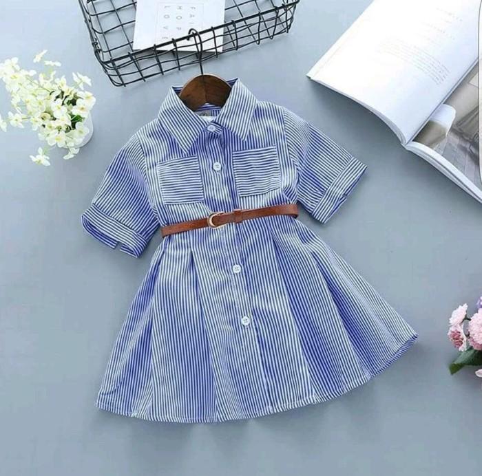 Foto Produk Dress Anak Perempuan Baju Dres Anak Cewek Fashion Kid Bagus Kancing dari Franziska