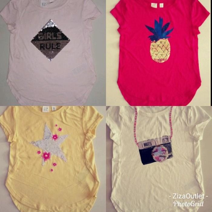 Foto Produk Pakaian Anak Perempuan Kaos Gapkids Kaos Sequin Kaos Anak Payet Baju dari Franziska