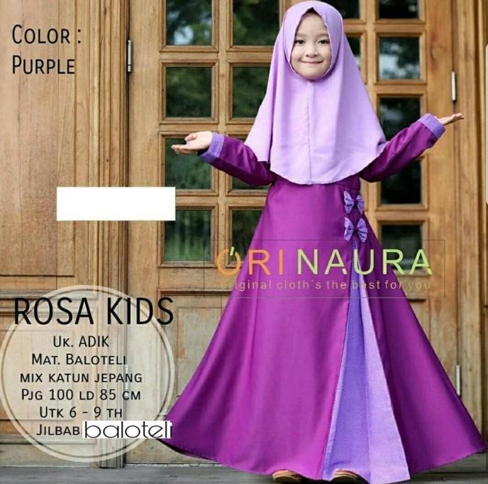 Foto Produk Gamis Anak Baju Muslimah Anak Murah Best Seller Terbaru Kekinian Dress dari Franziska