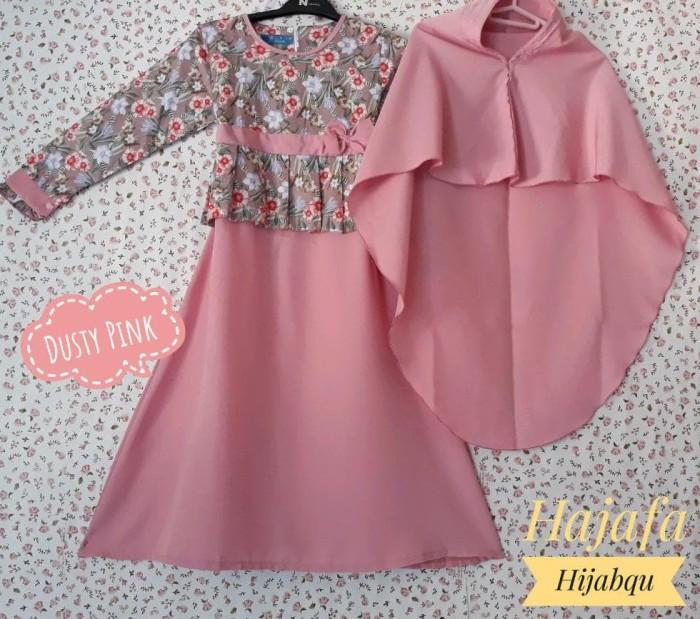 Foto Produk Baju Muslim Anak Gamis Perempuan Set Syari S M L dari Franziska