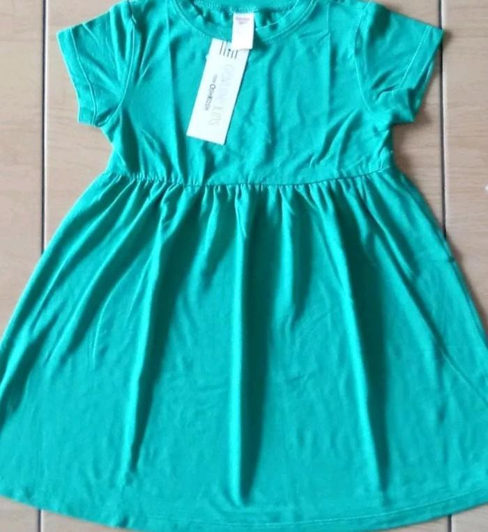 Foto Produk Dress Anak Oshkosh Polos Hijau - Atasan Anak Cewek - Baju Anak dari Franziska