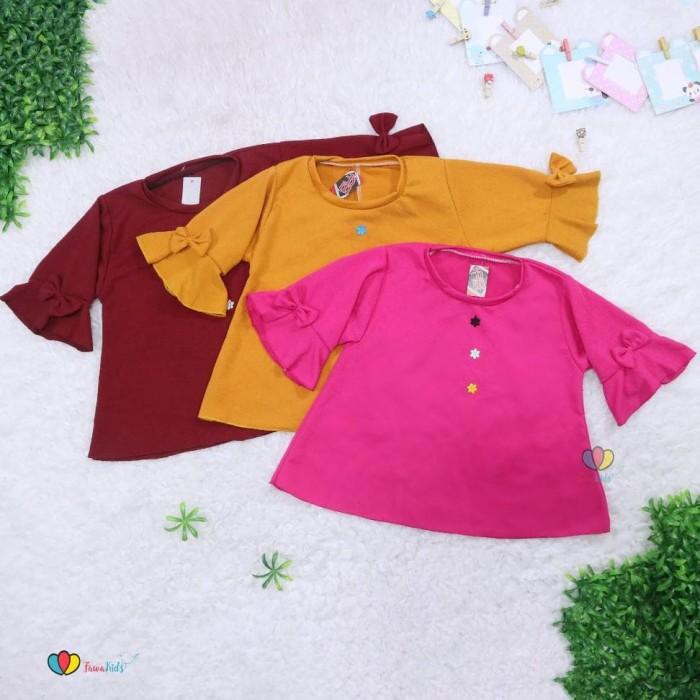 Foto Produk Blouse Gisell Uk 5 Tahun - Baju Anak Perempuan Kaos Anak Balita Murah dari Franziska