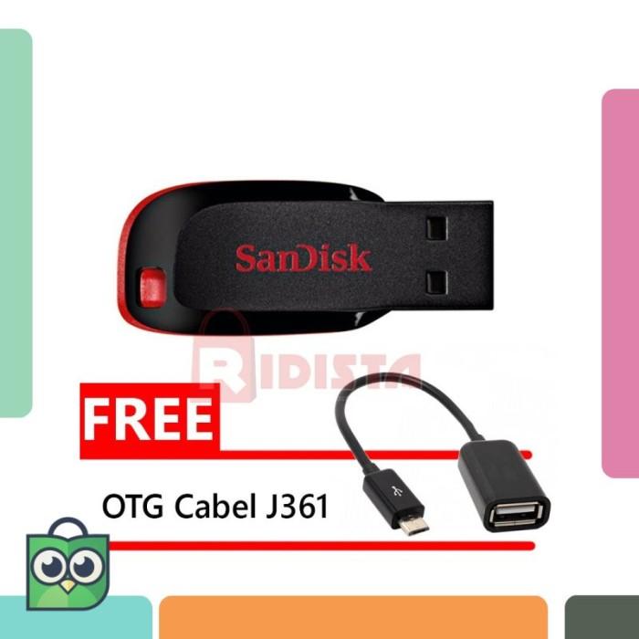 SanDisk Flashdisk Cruzer Blade CZ50 - 32GB FREE BONUS OTG Cable