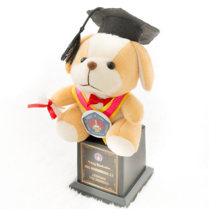 Jual Piala Boneka Wisuda Dog bisa Request Nama dan Logo Kado ... 1dd1321f97