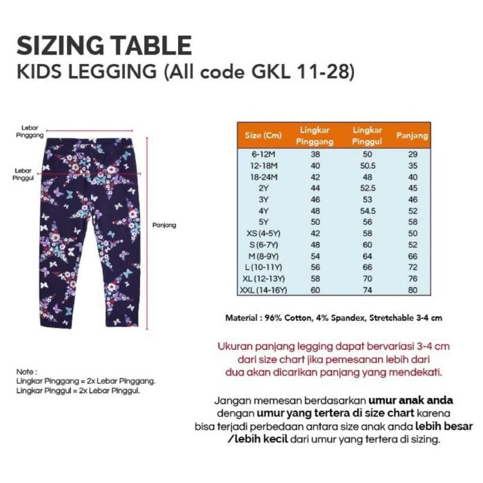 Jeans Gap Size Chart
