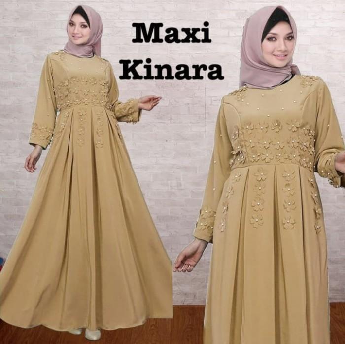 Jual Gamis Muslim Maxi Dress Muslim Corak Bunga Warna Coklat Susu Dki Jakarta Hikmahherbal Tokopedia