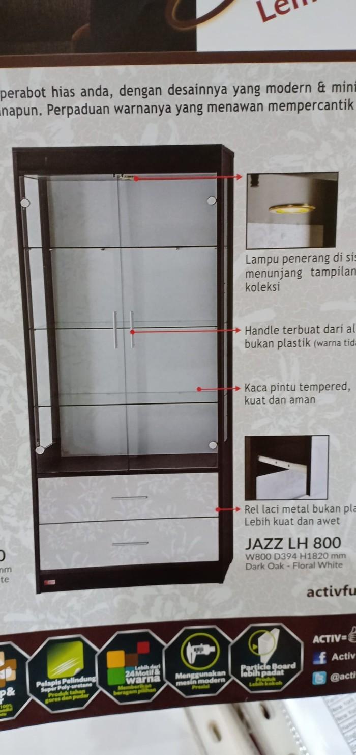 Jual Lemari Hias Dua Pintu Kaca Jazz LH 800 BANDUNG Kota Bandung Venus Furniture