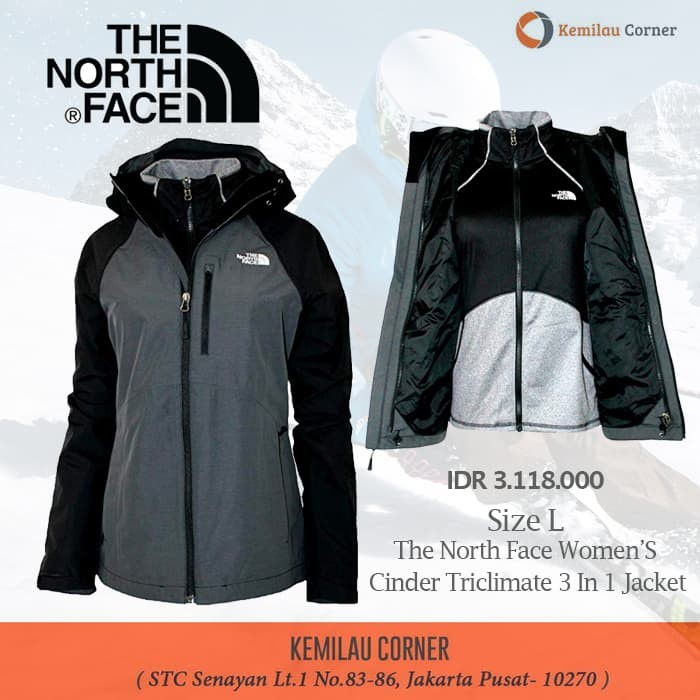 449a3b319 Jual The North Face Women'S Cinder Triclimate 3 In 1 Ski Jacket Size ...