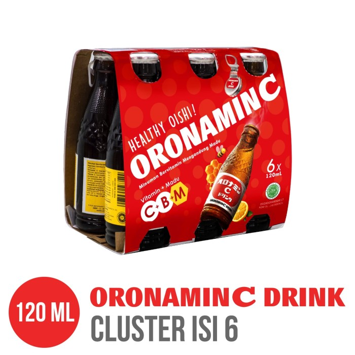 ORONAMIN C DRINK 120 ml Cluster Pack isi 6 Botol