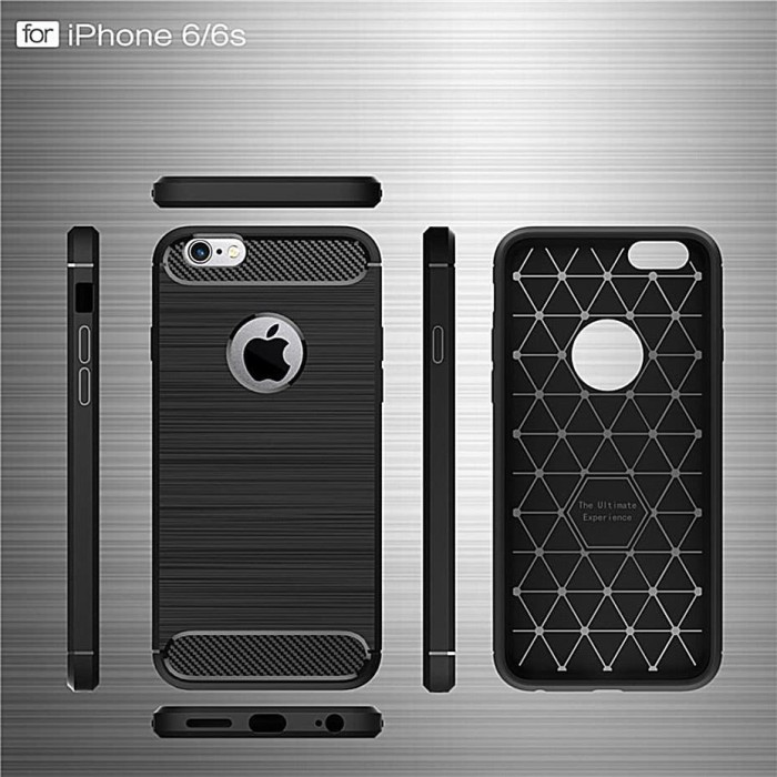 Soft Case IPhone 6 6S TPU Shockproof Ipaky Carbon Original - Hitam 47b7e9b9d6