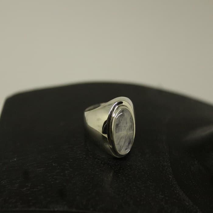 Jual Cincin Perak Pria Plain W Stone Kab Gianyar Natya Silver Acc Tokopedia
