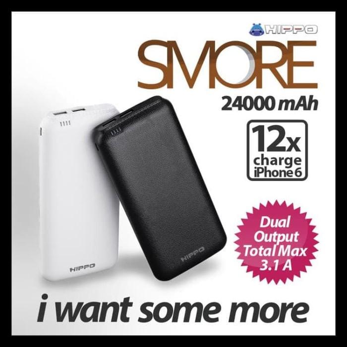 Hippo Smore 24000 Mah Simple Pack (SP) Powerbank - Putih