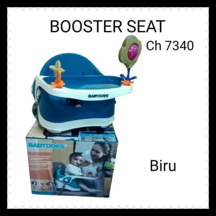 KURSI MAKAN BABY DOES BOOSTER SEAT KHUSUS GOJEK - BIRU