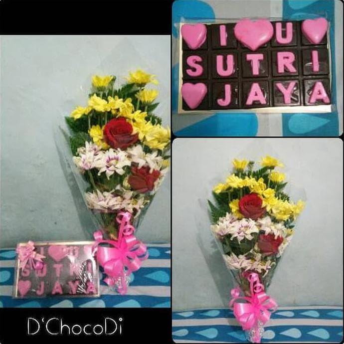 Jual Ready Stock Coklat Love Buket Bunga Paket Coklat Hadiah Valentine Jakarta Barat Ginarti Budiman Shop Tokopedia
