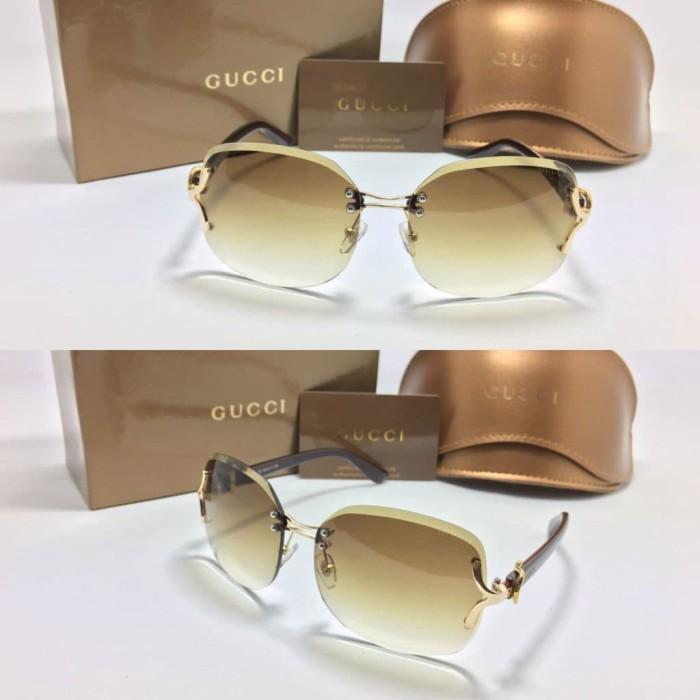 Jual Best seller kacamata fashion sunglass wanita gucci 18607 ... e393376a7e