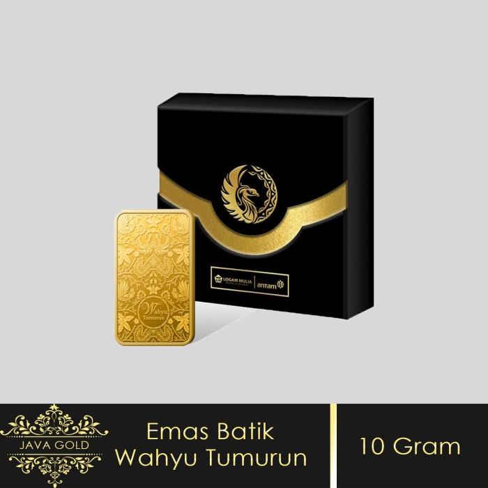 Jual Emas Antam 10 Gram Seri Batik Wahyu Tumurun Emas Batangan