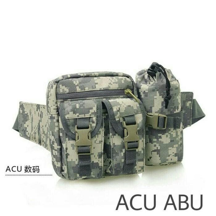 tas pinggang army tempat botol minum tactical military loreng dan