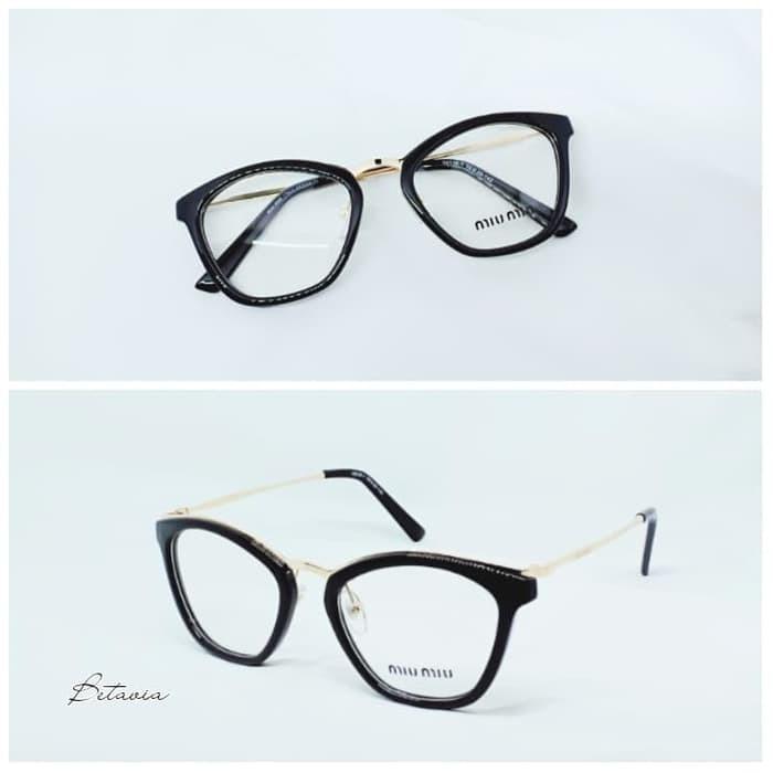 Foto Produk Frame kacamata Minus Wanita Miu Miu   Lensa Antiradiasi dari P0TTER GLASSES
