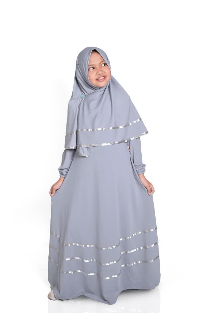 Jual Baju Muslim Gamis Anak Perempuan Warna Abu Abu Xl Kab Bandung Haura Busana Tokopedia