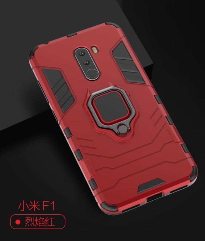 harga Xiaomi pocophone f1 black panther slim rugged stand ring armor case Tokopedia.com