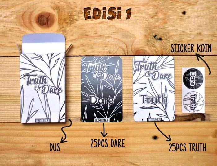 Jual Kartu Truth or Dare - edisi 1 monochrome - Kota