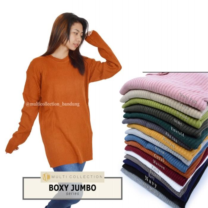 Foto Produk Boxy premium jumbo   sweater rajut   baju rajut   pakaian wanita dari multishop_bdg