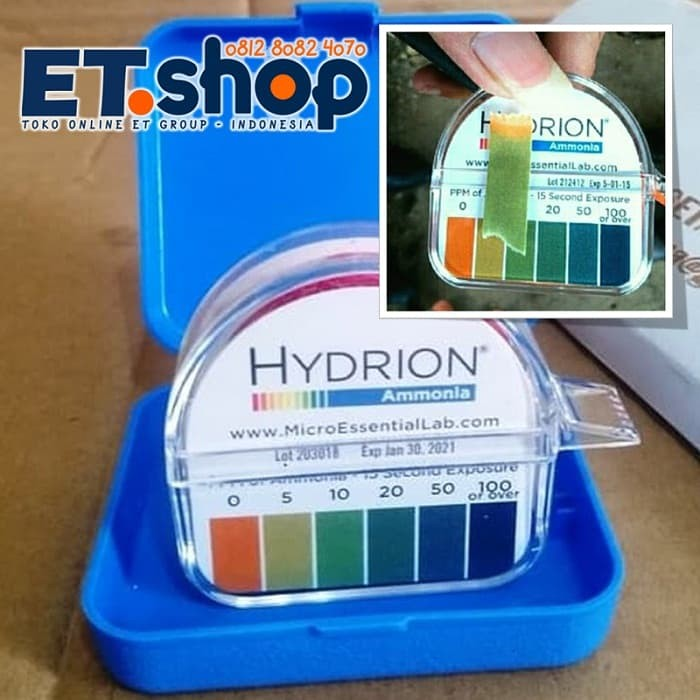 Foto Produk Hydrion AM-40 Ammonia Test Paper 0-100 PPM - Tes Kit / Testkit Amonia dari Sooper Shop