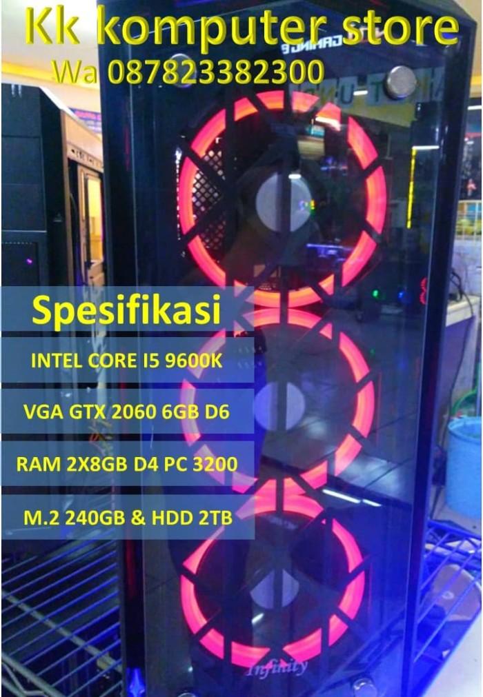 Jual PC RAKITAN INTEL CORE I5 9600K FEAT RTX 2060 6GB D6 CPU GAMING/DESIGN  - Kota Bandung - kk komputer store #Expo   Tokopedia