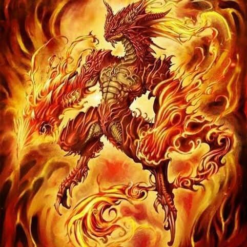 Jual Kaos Lukis Unik Keren Monster Naga Api Kab Bandung Dinkazzhop Tokopedia