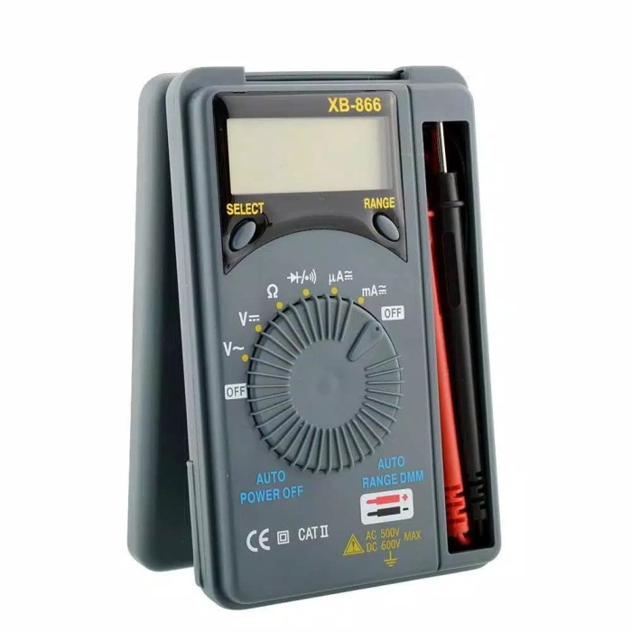 Foto Produk XB-866 Auto Range Pocket /Saku Digital Multimeter Multitester Avometer dari YI Camera Id