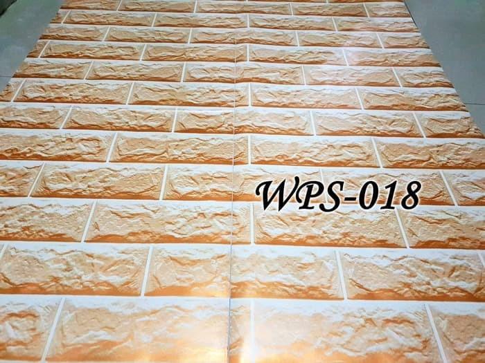 Jual WPS018 GOLDEN BRICK BATA EMAS WALLPAPER STICKER
