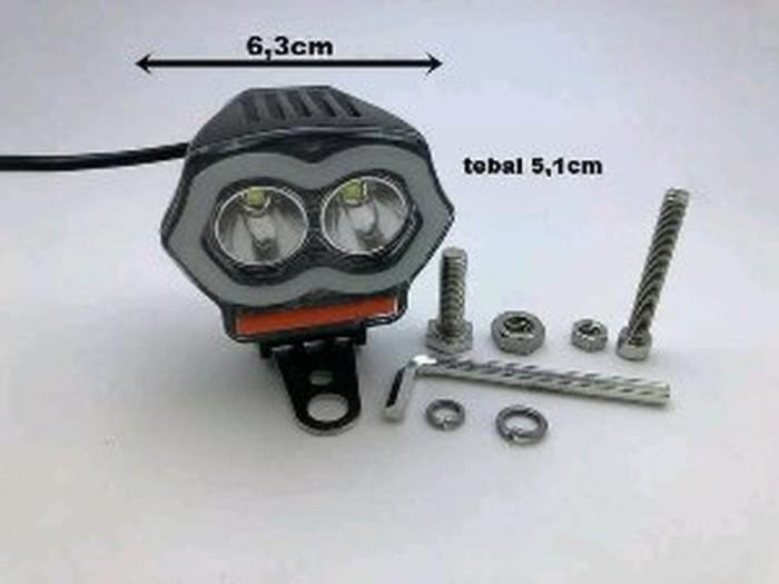 Lampu Tembak Sorot 2 mata Owl New Plus Colokan Usb - Lampu Sor Murah